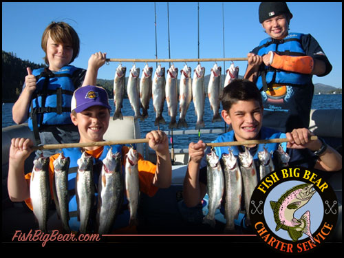 Fishing in Big Bear Lake with Charter Services